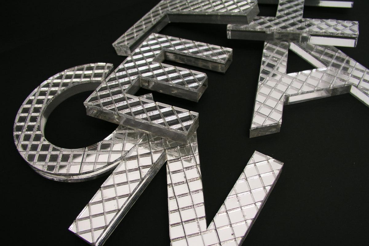 Propaganda Poreč 3D slova ogledala - rezanje na laseru