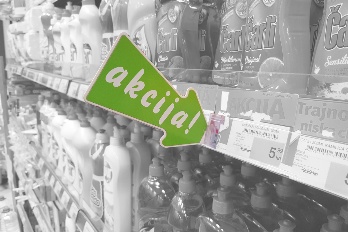 Propaganda Poreč POS oznake unutar trgovina