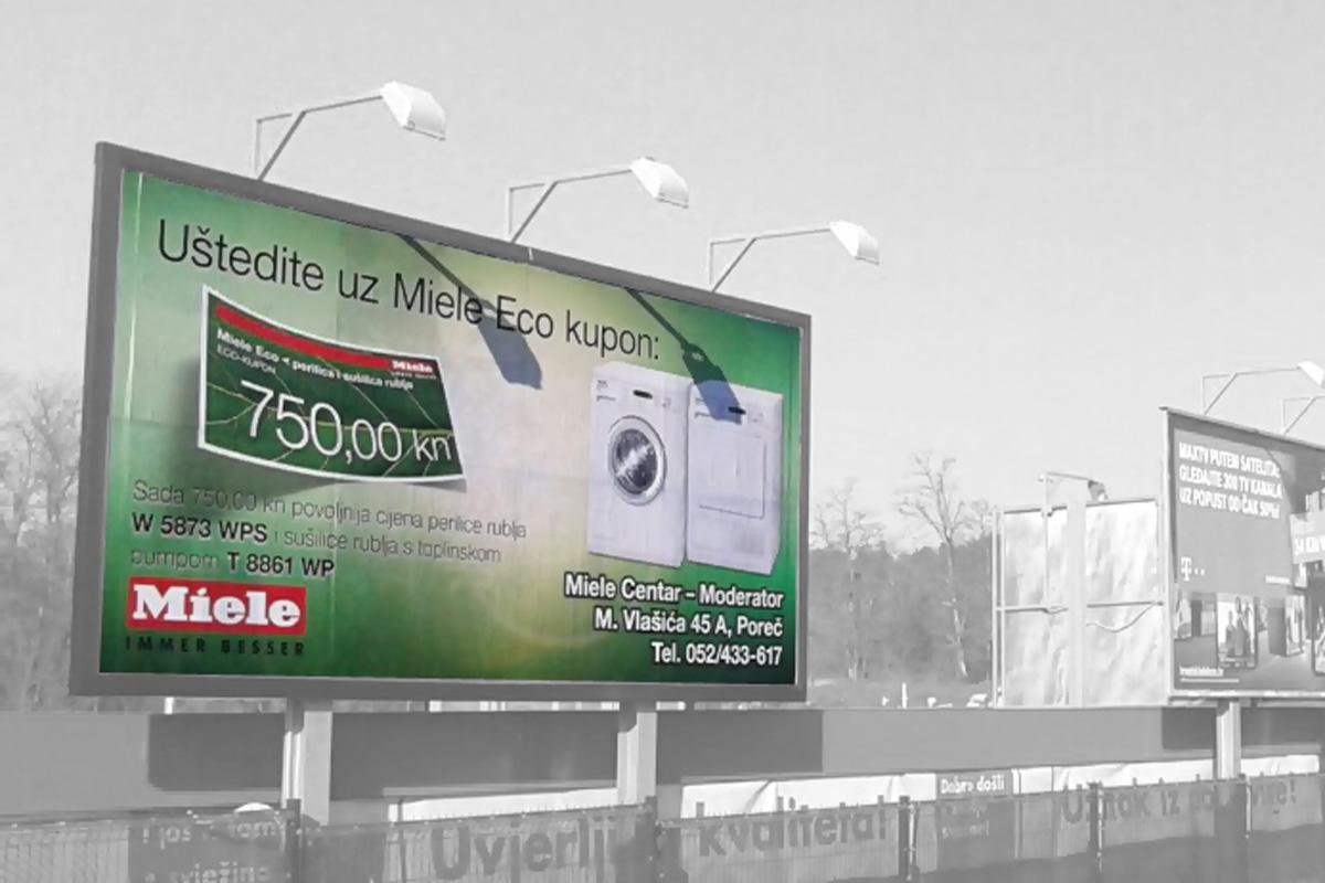 Propaganda Poreč billboard jumbo plakat miele