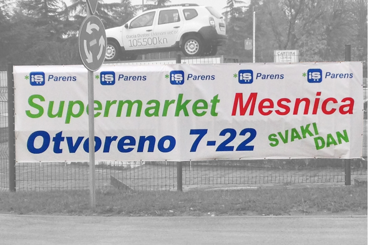 Propaganda Poreč cerada banner za žičane ograde