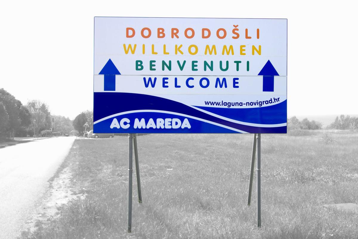 Propaganda Poreč cestovna signalizacija kamp