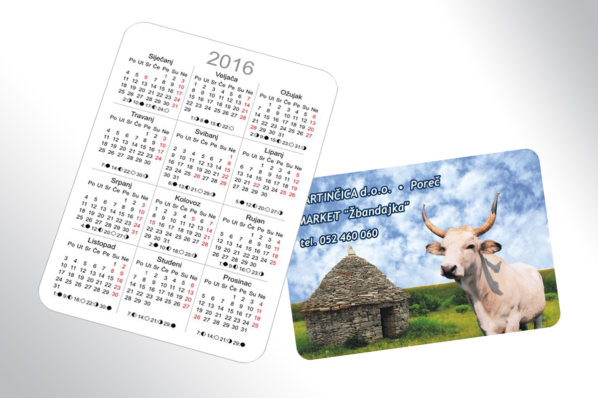 Propaganda Poreč džepni kalendar