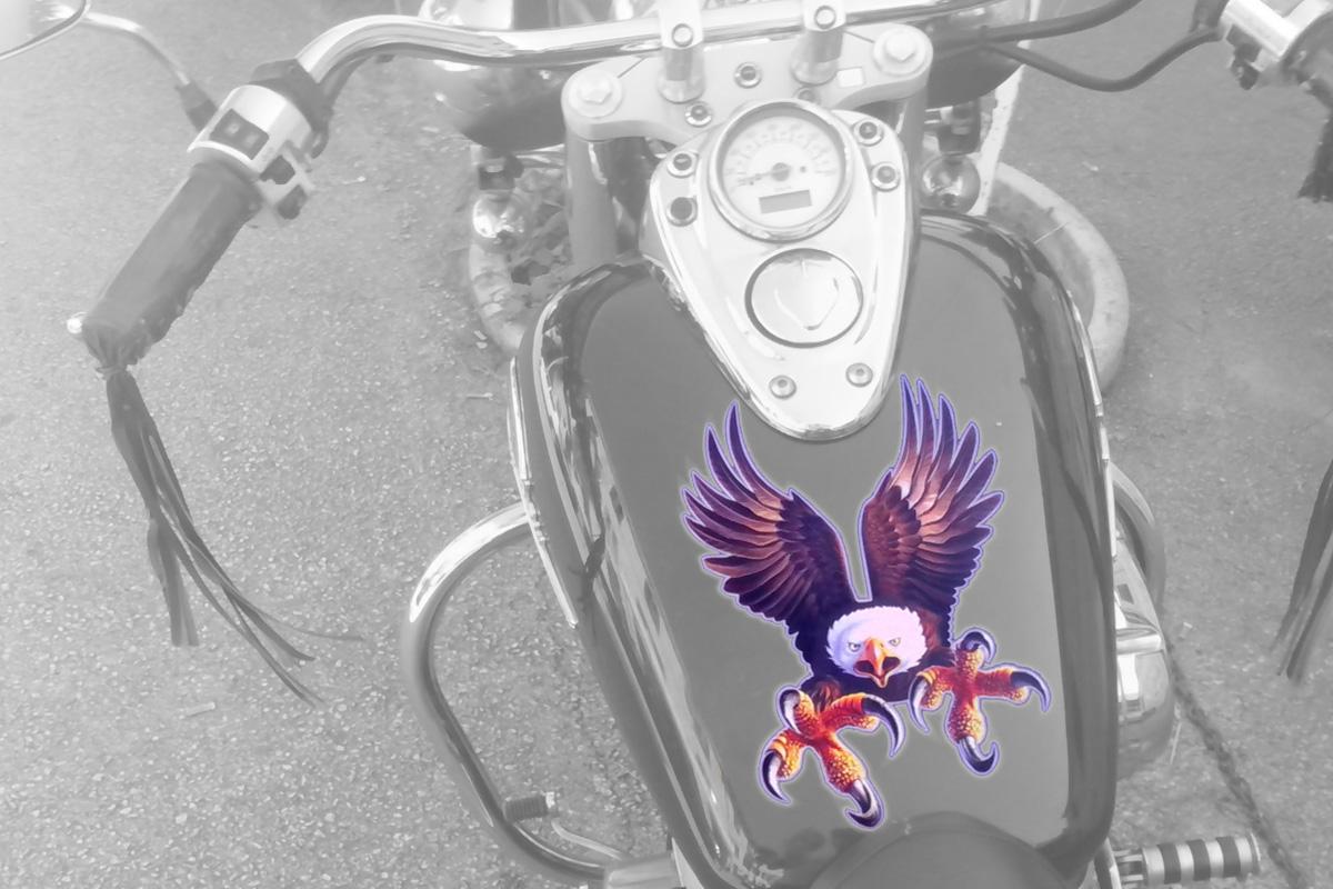 Propaganda Poreč naljepnice za vozila - motocikl motor