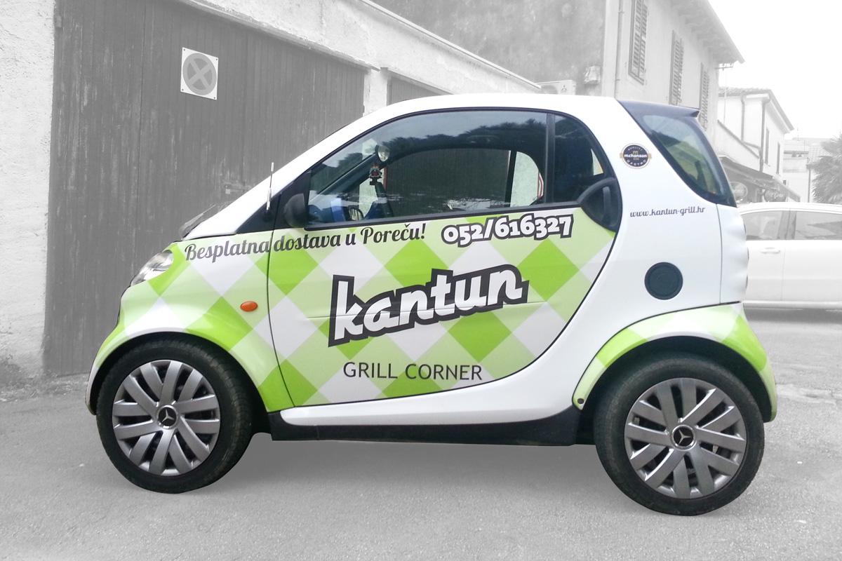 Propaganda Poreč obljepljivanje - oslikavanje vozila automobila smart