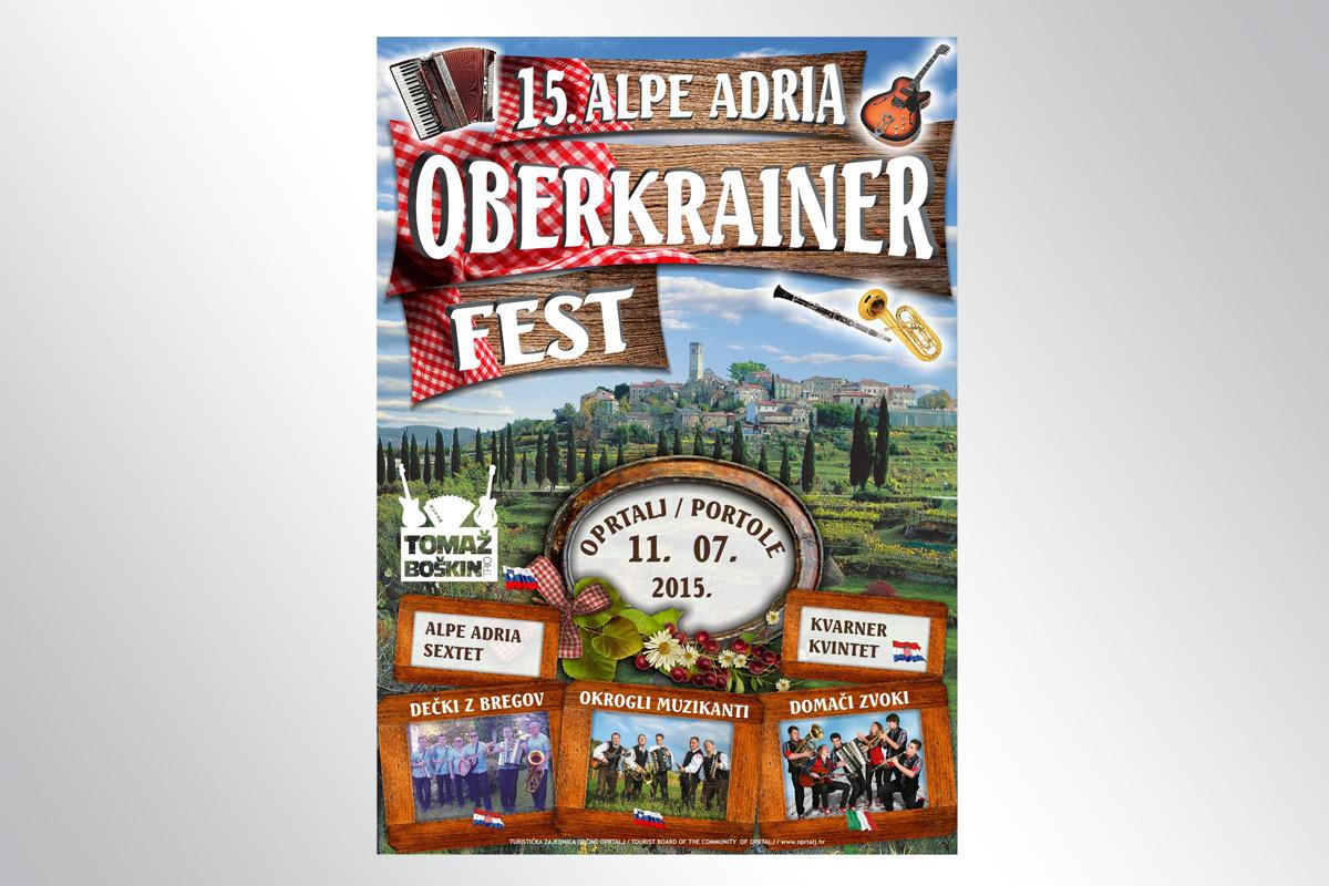 Propaganda Poreč plakat B2 - Alpe Adria Oberkrainer Fest