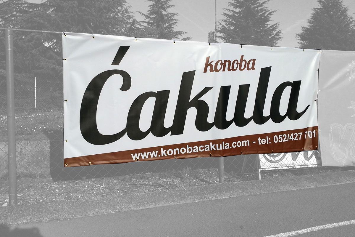 Propaganda Poreč sponzorski banner za nogometno igralište