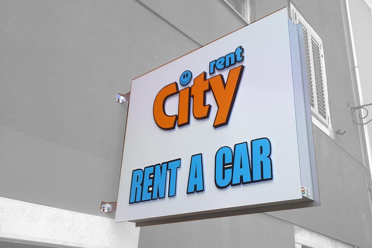 Propaganda Poreč svjetleća reklama City rent a car