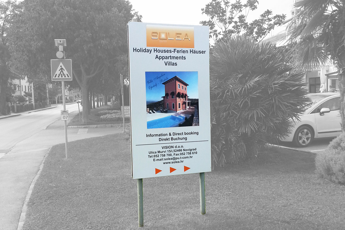 Propaganda Poreč tabela villa kuća za odmor