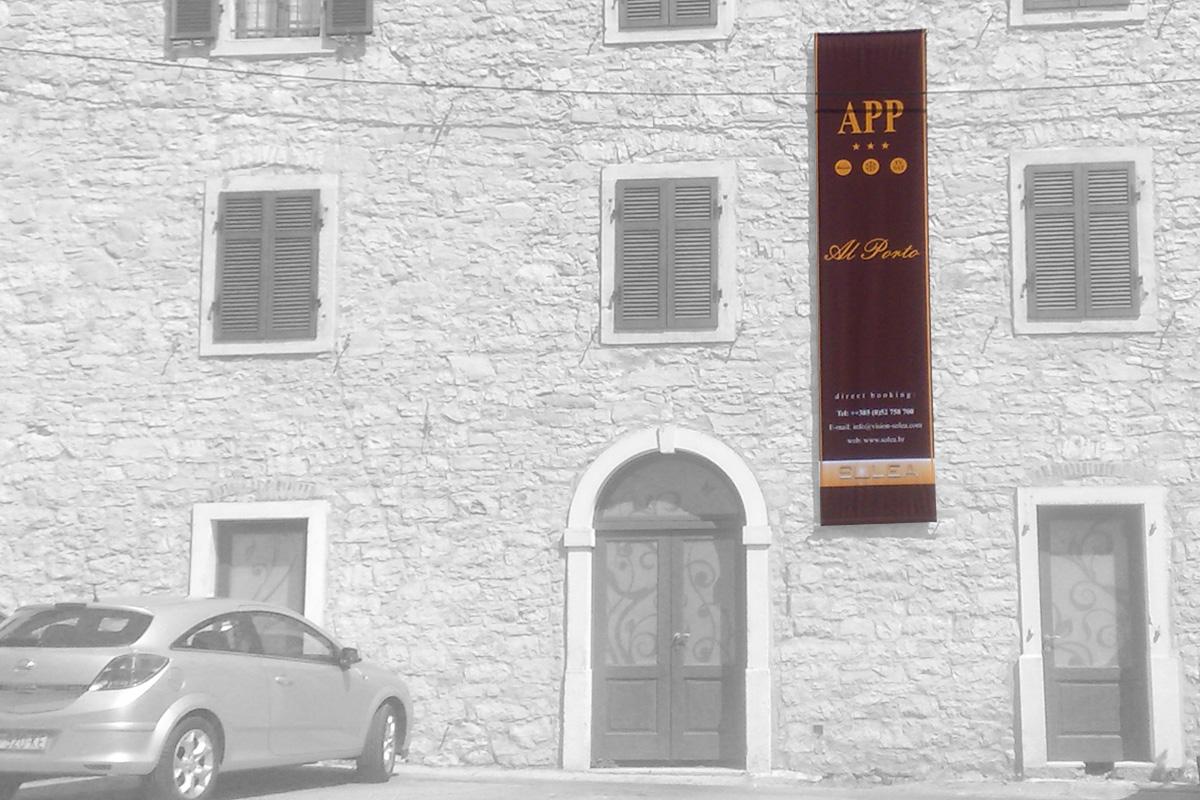 Propaganda Poreč zastava za pročelje zgrade